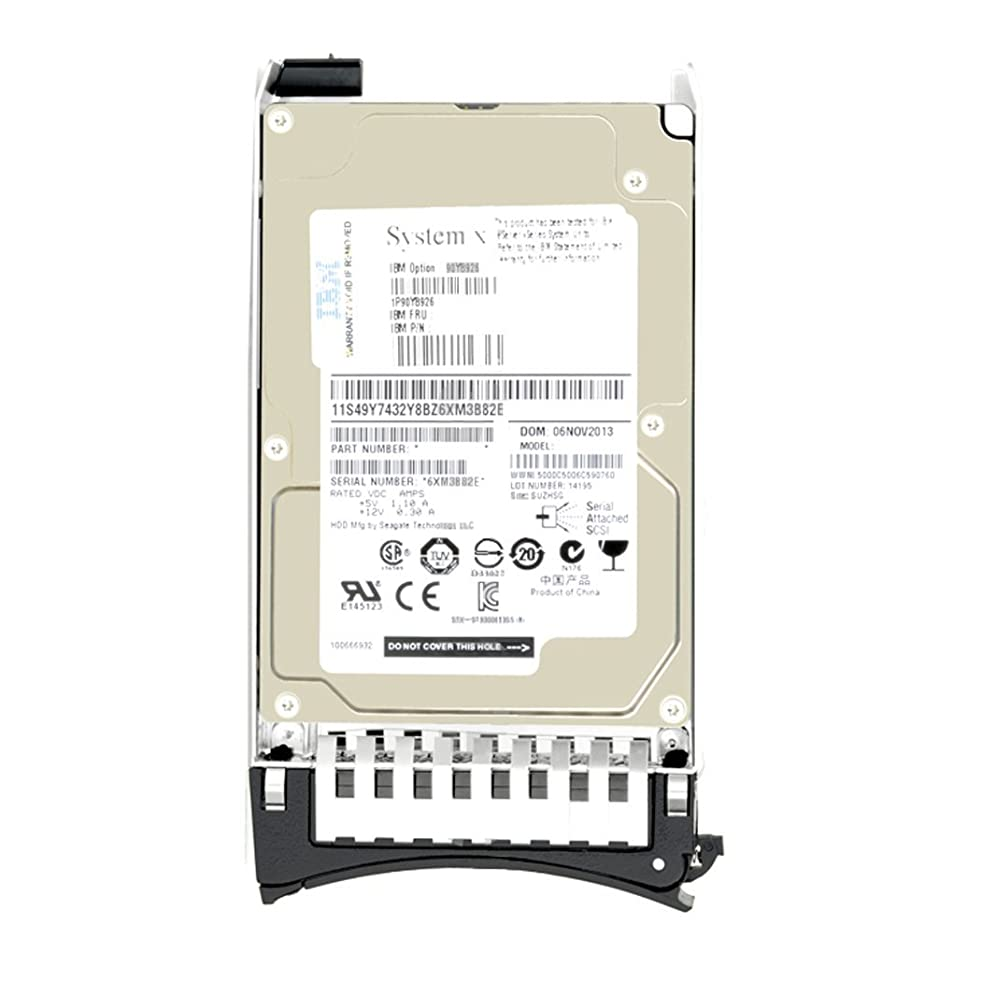 恥ずかしい文庫本ホットIBM 81Y9690-1TB 2.5インチ Near Line SAS 7.2K 6Gb/s HS ハードドライブ (認定整備済み)