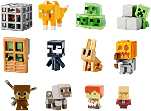 Mattel Minecraft Mini-Figures Obsidian Series 4 - 12 1-Inch Figure Blind Box Collection