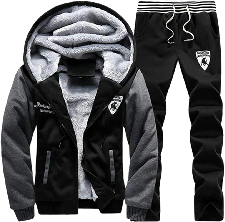 ZXFHZSCA Mens Fashion Hoodie Jackets Sweatpant Tracksuits 2 Piece Set