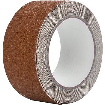 GXMZL Cinta Antideslizante - Colorida Cinta Adhesiva Antideslizante de PVC de 5M * 5cm for la decoración de Seguridad del Piso de la Escalera (marrón): Amazon.es: Hogar