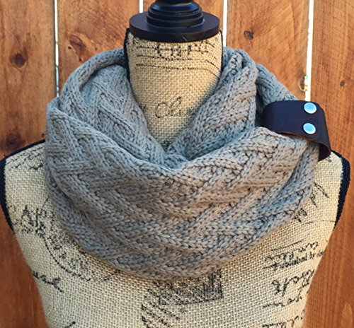 Mocha Infinity Knit Scarf By Uptown Girl Co