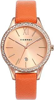 Viceroy Reloj Analogico para Mujer de Cuarzo con Correa en Cuero 471098-93