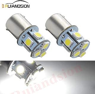 Ruiandsion 2pcs 1156 7506 BA15S 6V Super Bright 5050 8SMD Chipset LED Replacement Bulb for Reverse light Turn signal light Tail light, Non-polarity(White)
