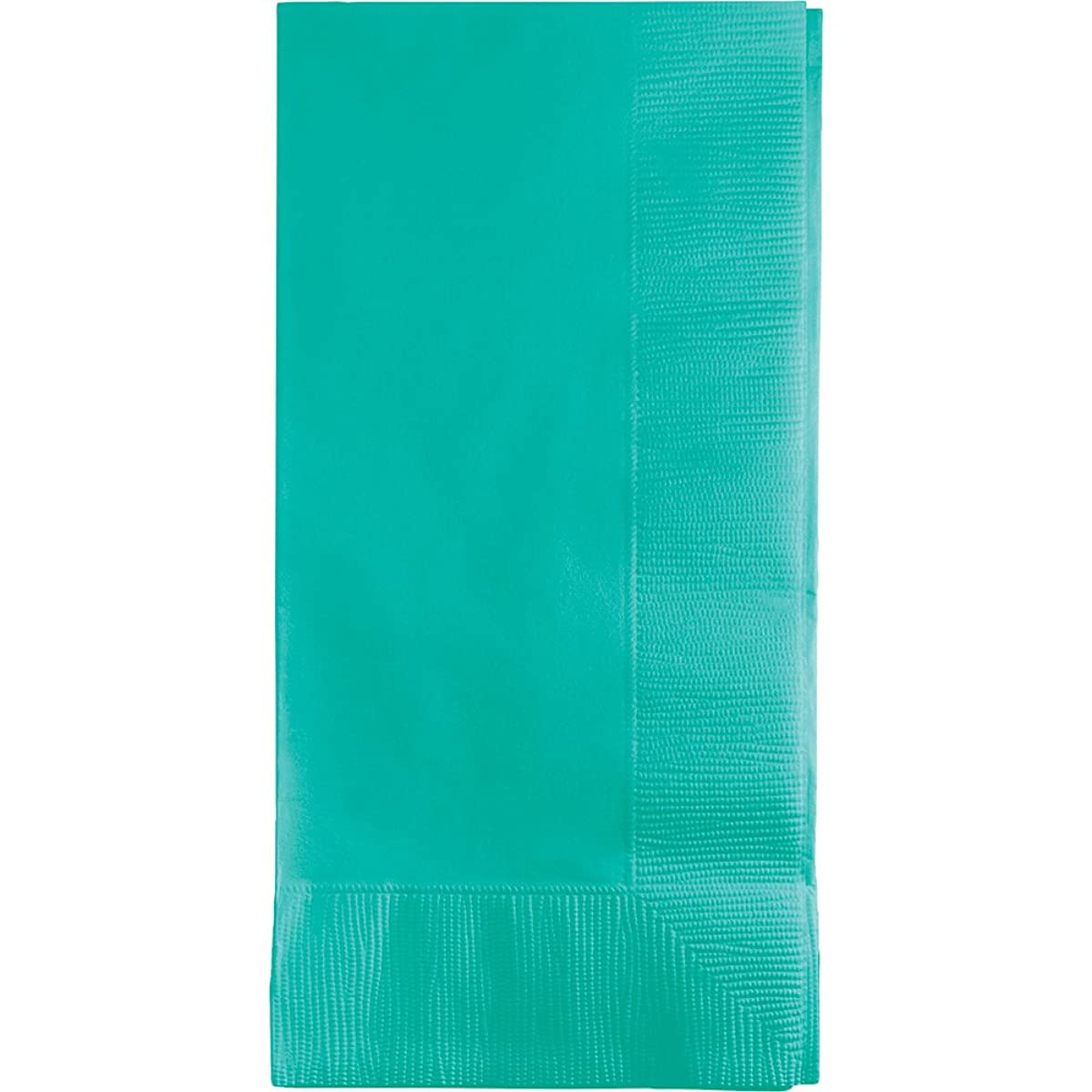 Creative Converting 324790 DINNER NAPKINS 2PLY 1/8FLD, One Size, Teal Lagoon