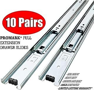 10 Pack Promark Full Extension Drawer Slide (22 Inches)