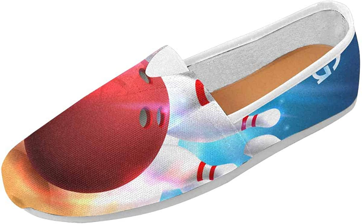 InterestPrint Bowling Club Womens Comfortable Casual Slip On Loafers US4.5~US14