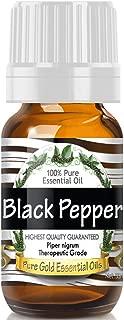 Pure Gold Black Pepper Essential Oil, 100% Natural & Undiluted, 10ml