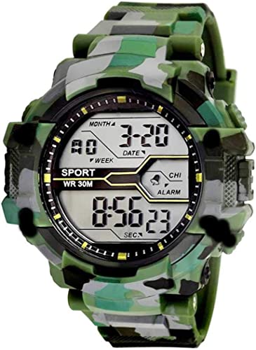 Army Shockproof Waterproof Digital Sports Watch for Mens Kids Sports Watch for Boys Military Army Watch for Men