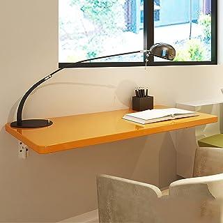 ANANNA Table de Travail Table d'ordinateur Pliante Table de Travail fixée au Mur pour Salle à Manger, étude, Cuisine, blan...