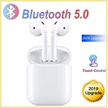 Bluetooth 5.0 Headset Wireless Earbuds Bluetooth Headphones 3D Stereo IPX8 Waterproof Pop-ups Auto Pairing Fast Charging for Samsung iPhone/Apple of airpod and Airpods Sports Earphone