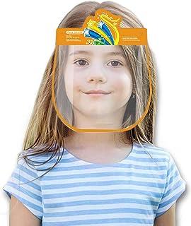 Padaleks 5Pcs Kids Anti-fog Safety Face Masd Bandanas Breathable Full Face Clear Visor Eyes Shield for Children