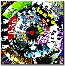 SEVEN WALL ARTS-The Beatles Classic Music Record Collections Modern Poster Picture Decorative Giclee Print on Canvas Framed Artwork Gift Idea for Home Office Decor 24 x 24 Inch