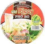 ACECOOK Oh Ricey Fideos Arroz Instantáneos Cuenco de Carne 12x71gr