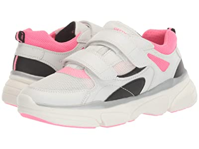 Geox Kids Lunare 3 (Big Kid) (White/Fuchsia) Girl