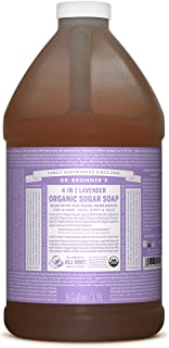 Dr. Bronner's - Organic Sugar Soap (Lavender, 64 Ounce) - Made with Organic Oils, Sugar and Shikakai Powder, 4-in-1 Uses: Hands, Body, Face and Hair, Cleanses, Moisturizes and Nourishes, Vegan