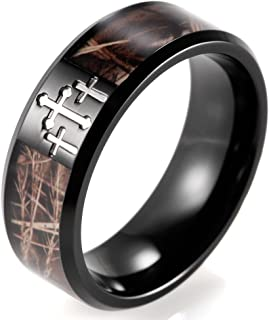 camo ring with cross