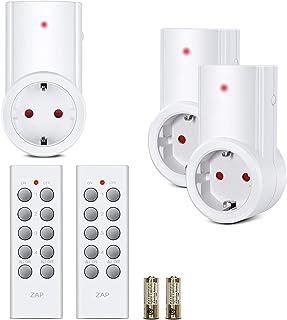 Etekcity Enchufes Inalámbricos Inteligentes con Mando a Distancia con Control Remoto Interruptores a Distancia, Blanco (Código de Aprendizaje, 3Rx-2Tx)