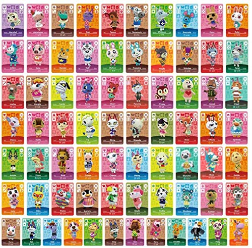 ACNH Tiny NFC Tag Game Villager Invite Cards - 72 Pcs Mini NFC Tag Game Cards for ACNH and Other Series for Switch/Switch Lite/Wii U and New 3DS