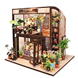 CUTEBEE Puppenhaus Miniatur mit Möbeln, Idee DIY hölzernes Puppenhaus-Kit, Maßstab 1:24 kreativer...