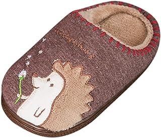WEXCV schoenen kinderen unisex baby jongens meisjes cartoon egels verdikking pluche winter warme peuterschoenen anti-slip ...