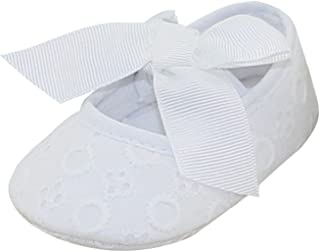 630d9b30f Aivtalk Baby Girls Princess Bowknot Soft Crib Shoes Christening Baptism  Shoes