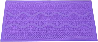 LayTmore Lace Mould Silicone Mat Fondant Sugar Craft Cake Mold DIY Baking Decorating Tool (Purple)