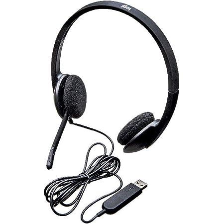Logitech H340 Auriculares con Cable, Sonido Estéreo con Micrófono con Supresión de Ruido, USB, PC/Mac/Portátil/Chromebook - Negro