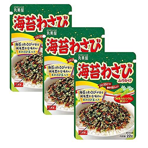 Seaweed Wasabi 16oz 3pcs Japanese Sprinkled Over Rice Marumiya Ninjapo