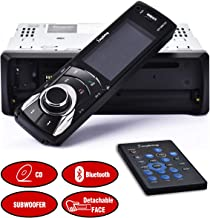 SjoyBring Bluetooth Car Stereo with CD Player, Detachable Panel, Hands Free Calling, HD Large Screen, CD/MP3/USB/SD/AUX FM Radio Receiver with Subwoofer Interface