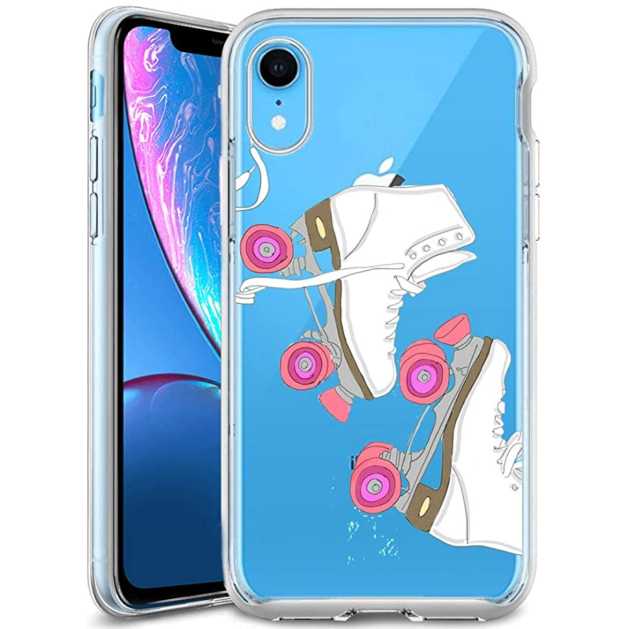 Customized Protective Cover with Slim Soft Durable TPU Ultra-Clear Silicone UV Printing Roller Skates Phone Case for iPhone Xr