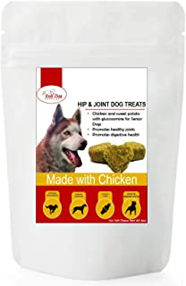 Dog Treats Biscuits Organic Made of Chicken & Sweet Potato with glucosamine Chews Bites Rewards pet Snack Protein Source Made in USA only Peanut Butter Dog Treats - Hip and Joint for Dogs