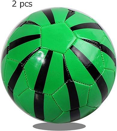 Equipo de la aptitud Juguetes de fútbol para niños Niños pequeños Niños Niños Deporte al aire libre de 1 a 4 años de edad Juego de 2 Mini balón de fútbol Tamaño oficial 2 Pelotas suaves Entrenamiento