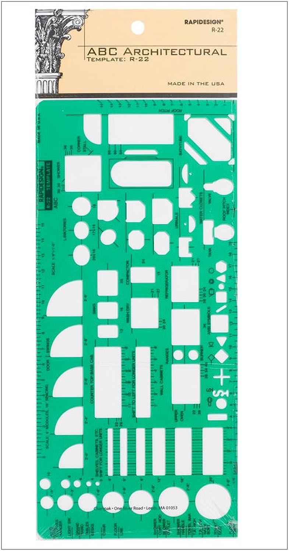 Rapidesign House Plan Fixtures Template (22R) by Rapiddesign B0039ZI5IM | Günstige