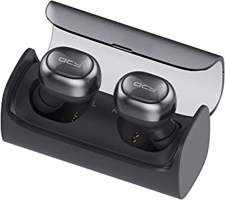 Wireless Earbuds, QCY Q29 Mini Dual V4.1 Bluetooth Stereo Headphones Handsfree with Mic 12 hour Portable Charging case &Noise Canceling for iPhone 7 6 6 Plus, iPad, iPod, Samsung Smart phones