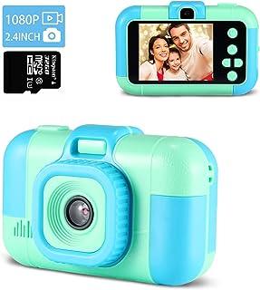 Appareil Photo Enfants, 2.4 Pouces Caméra Numérique pour Enfants, Rechargeable / 40 MP Photo & 1080P HD Caméras Vidéo avec...