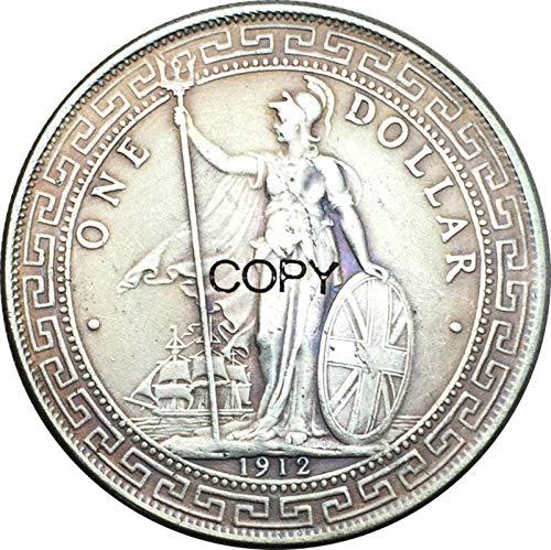 Eeng British Trade One Dollar 1912 Kong hong Yi Yuan Copy Commemorative Coin