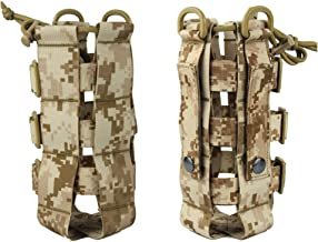 Tactical Water Bottle Pouch Nylon Adjustable Magic Tape Military Canteen Cover Holster Outdoor Travel Kettle Bag