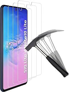 ANEWSIR 【3-pack】 Skyddsfilm i härdat glas kompatibel med Samsung Galaxy S10 Lite/Note 10 Lite skärmskydd, [9H hårdhet] [HD...