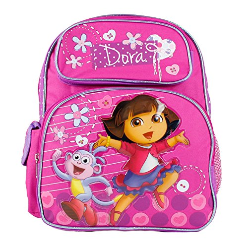 Dora the Explorer Small Backpack Jump w/Boots School Bag New 639792