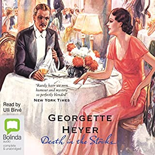 Death in the Stocks: Inspector Hannasyde Series, Book 1                   By:                                                                                                                                 Georgette Heyer                               Narrated by:                                                                                                                                 Ulli Birvé                      Length: 9 hrs and 47 mins     23 ratings     Overall 4.1