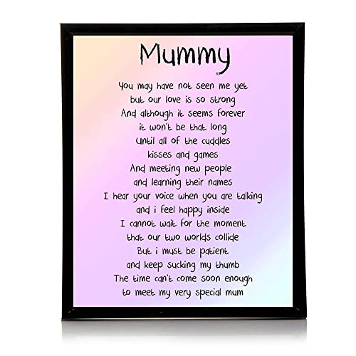 Mummy Love From The Bump Poem 10x8 Picture With Optional Frame Ideal Birthday Mothers Day Gift