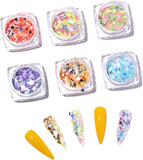HARZELN Gold/Silver Butterfly Nail Sequins Paillette Nail Holographic Glitter 3D Flakes Art Accessories