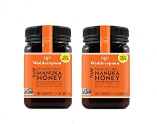 Wedderspoon Raw Manuka Honey Active 16+, 17.6 oz Jar (two Pack)