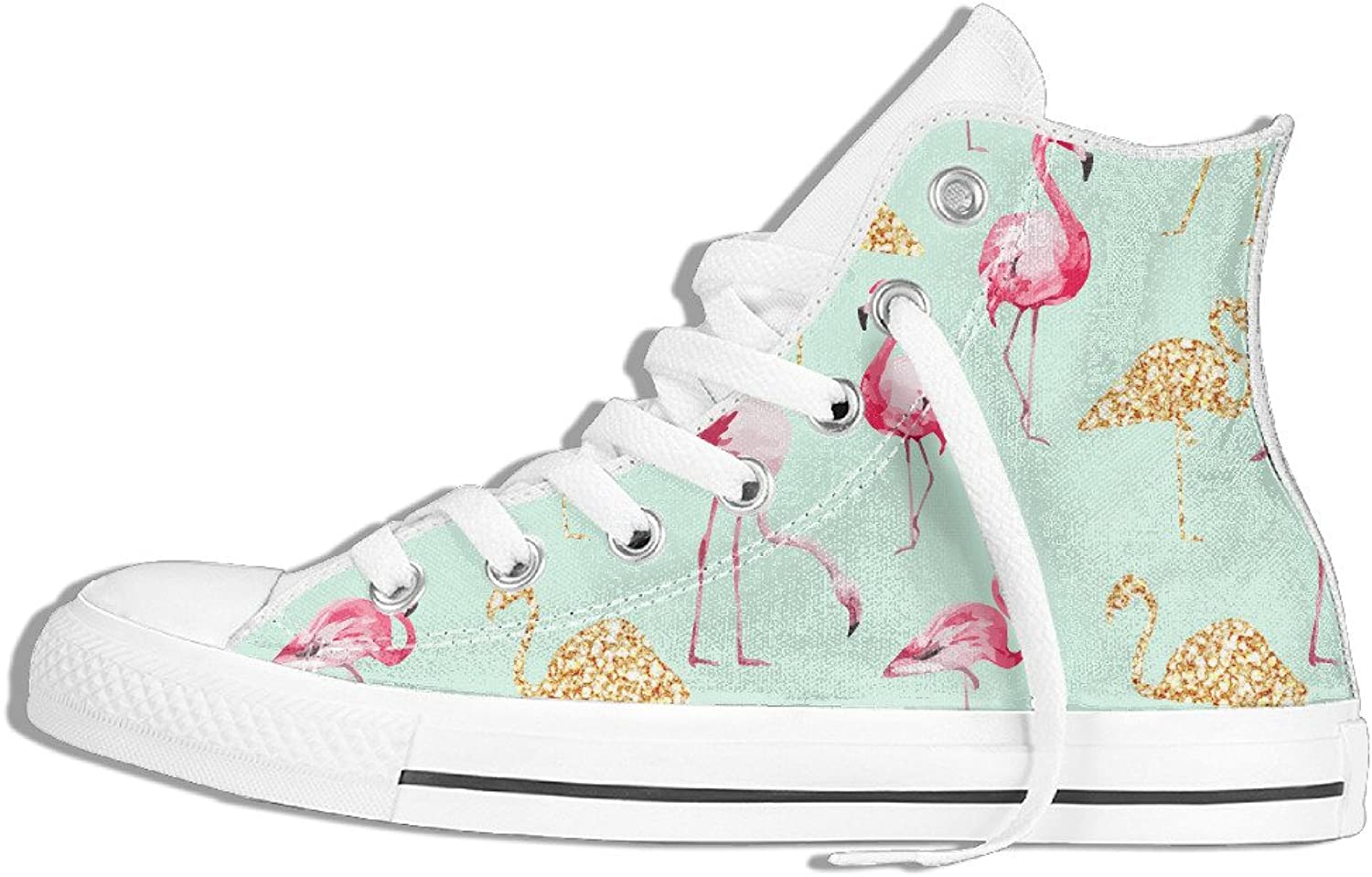 Efbj Flamingo Unisex Leisure High Top Canvas shoes Sneakers for Men and Women