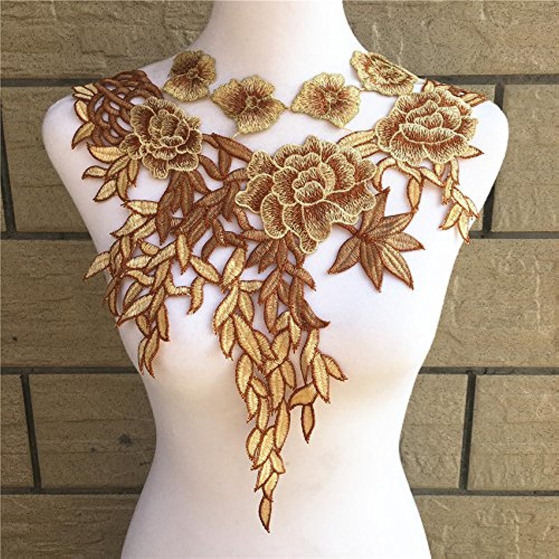 Embroidery Trim Neckline Collar Applique Fabric Cloth Sew On DIY Craft (Style B1)
