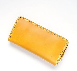 革蛸謹製 匠 台形ラウンドジッパーワレット 黄金