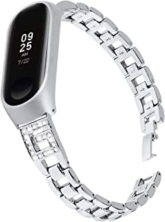 HPTQJ Reloj Correa Mujeres Delgado Diamante Rhinestone Joyas Pulsera Pulsera de Metal Correa de reemplazo Regalo cálido (C...