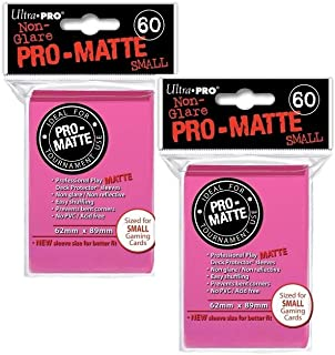 Ultra Pro Pro-Matte Small (120 Count) Bright Pink Deck Protector Sleeves - Yugioh
