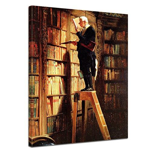 Kunstdruck – Der Bücherwurm – Carl Spitzweg -auf Leinwand - 5