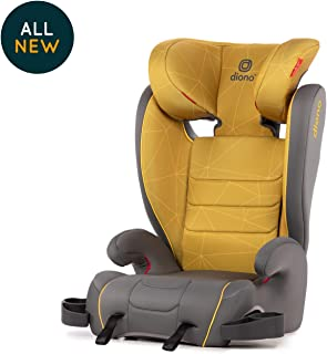 Diono Monterey XT Latch, 2-in-1 Expandable Booster Seat, Yellow Sulphur